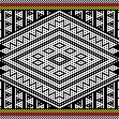 Hoa văn pixel MẠ 016