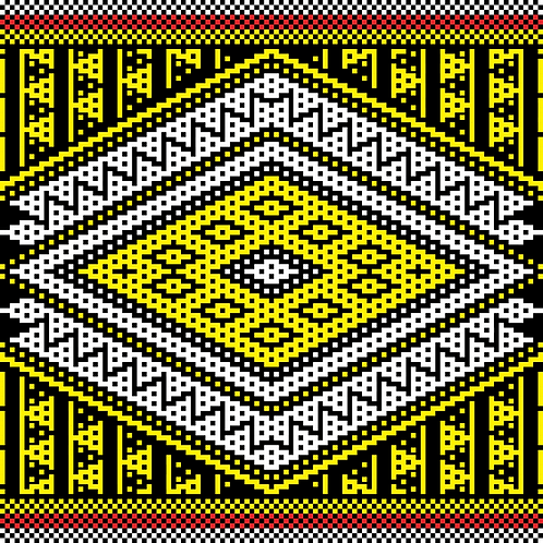 Hoa văn pixel MẠ 017