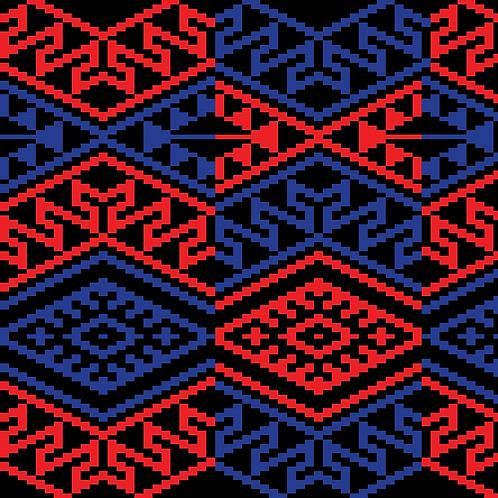 Hoa văn pixel MẠ 031