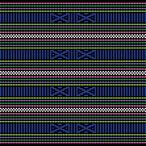 Hoa văn pixel K'HO 026