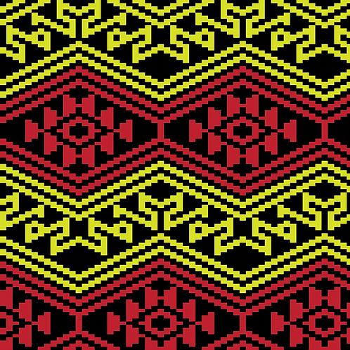 Hoa văn pixel MẠ 034