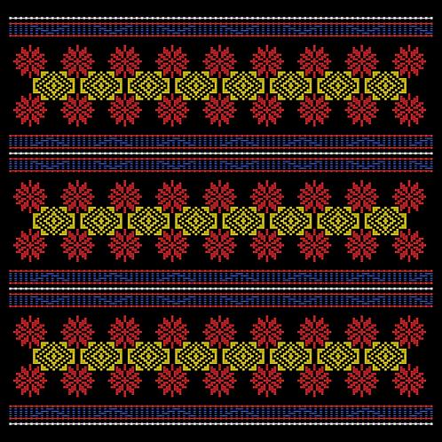 Hoa văn vector K'HO 018