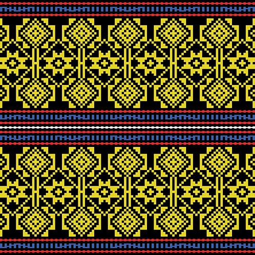 Hoa văn pixel K'HO 016