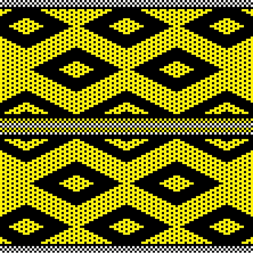 Hoa văn pixel K'HO 011