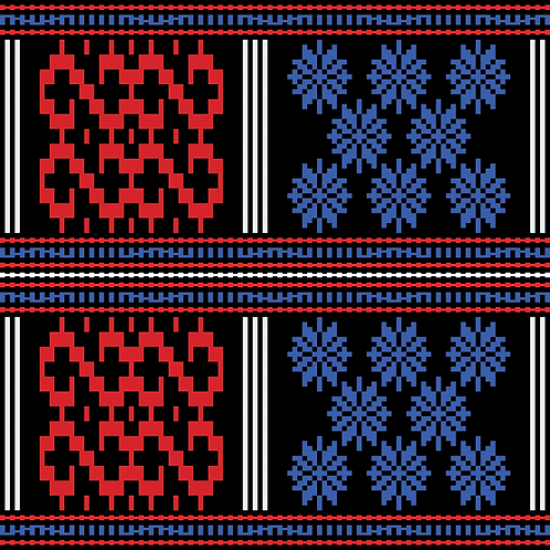 Hoa văn pixel K'HO 024