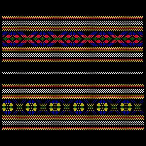 Hoa văn vector MẠ 015