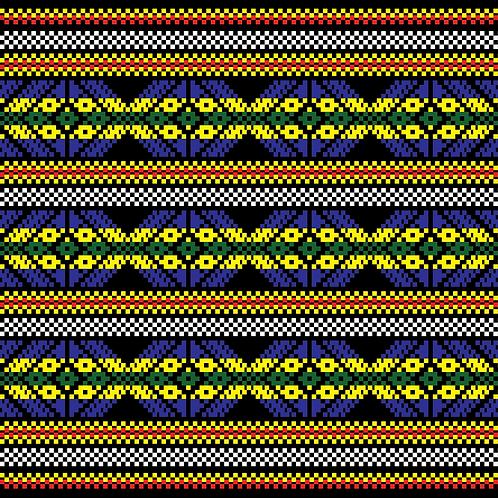 Hoa văn pixel MẠ 003
