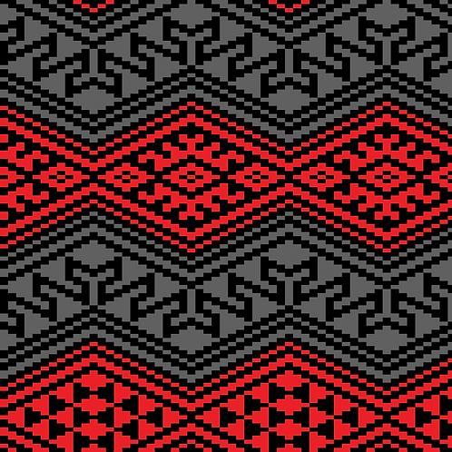 Hoa văn pixel MẠ 029