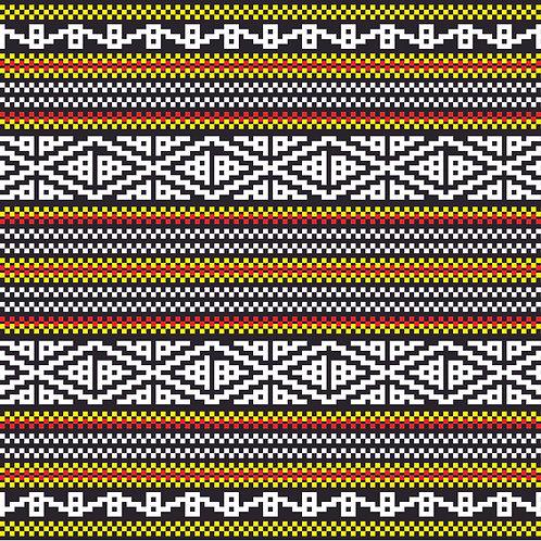 Hoa văn dân tộc pixel 001