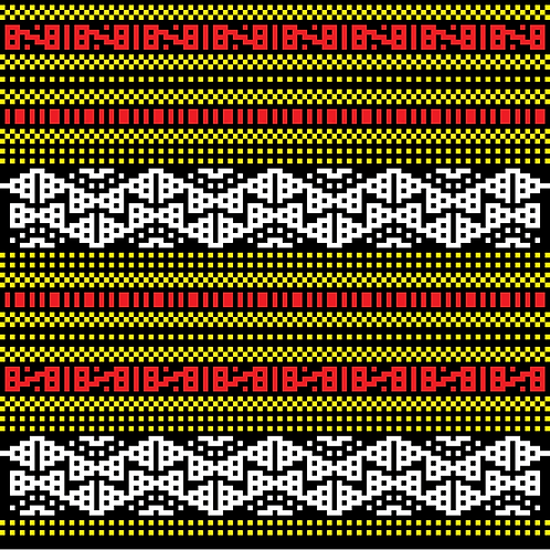 Hoa văn pixel MẠ 002