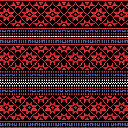 Hoa văn pixel K'HO 014