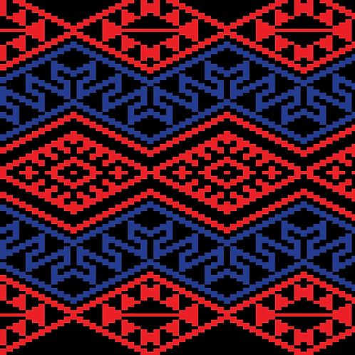 Hoa văn pixel MẠ 030