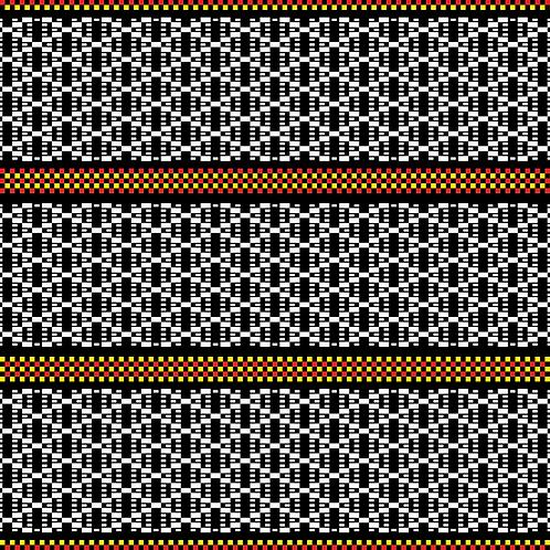 Hoa văn pixel K'HO 009