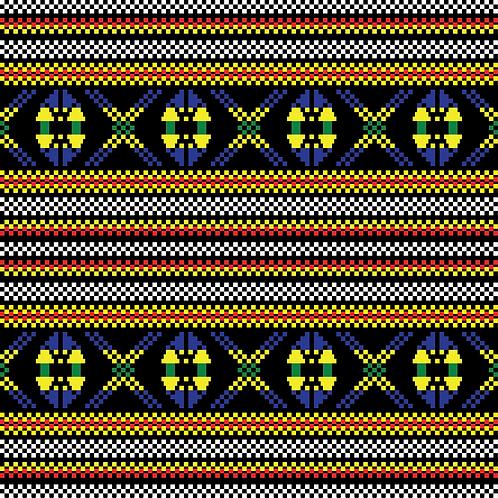 Hoa văn pixel MẠ 006