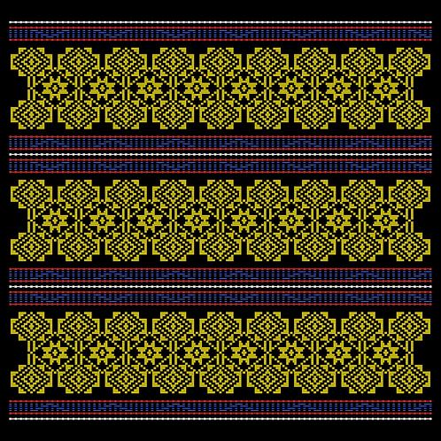 Hoa văn vector K'HO 016