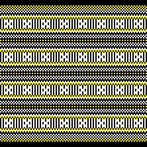 Hoa văn pixel MẠ 004