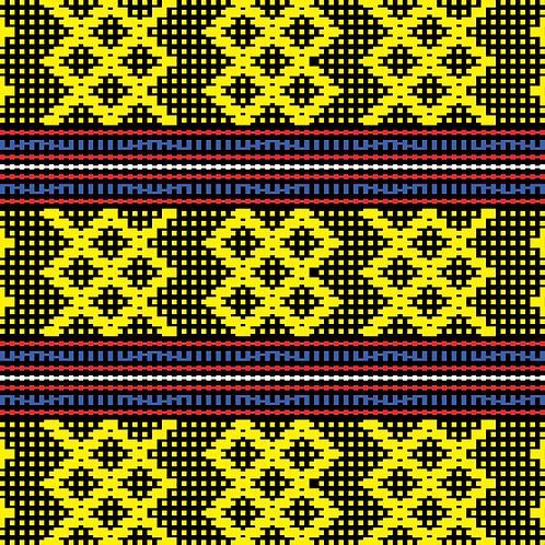 Hoa văn pixel MẠ 012