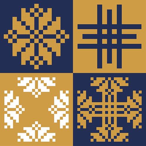 Hoa văn dân tộc phát triển pixel 006
