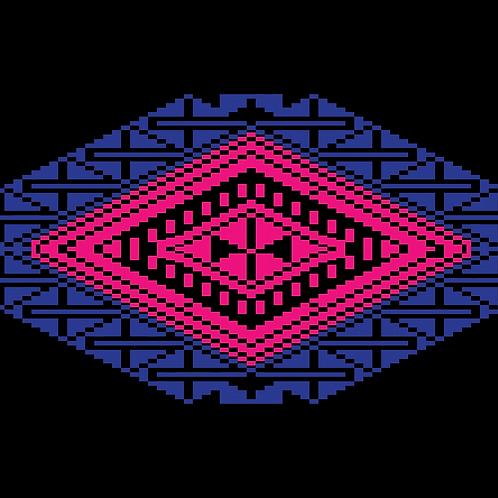 Hoa văn pixel MẠ 033