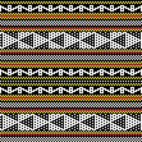 Hoa văn pixel K'HO 012
