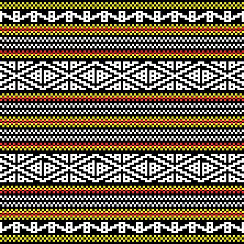 Hoa văn pixel K'HO 003