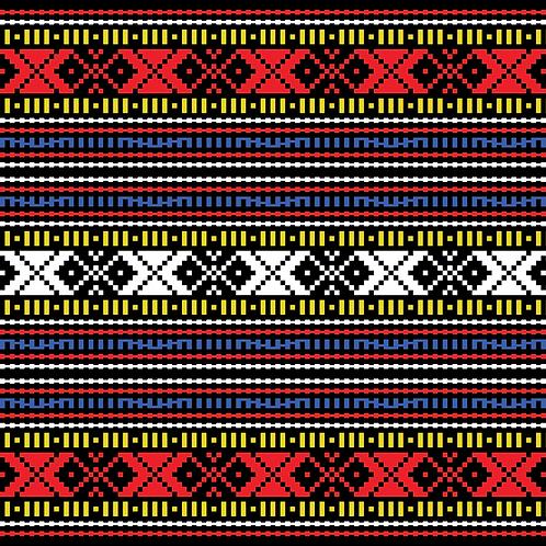 Hoa văn pixel K'HO 021