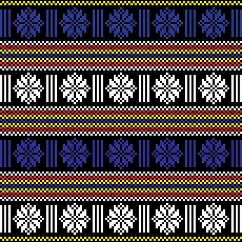 Hoa văn pixel K'HO 006