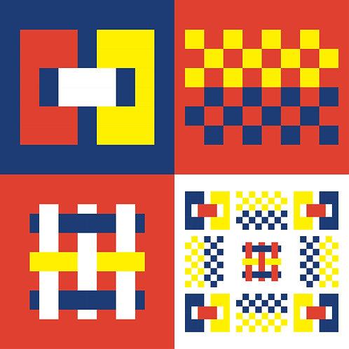 Hoa văn dân tộc phát triển pixel 004
