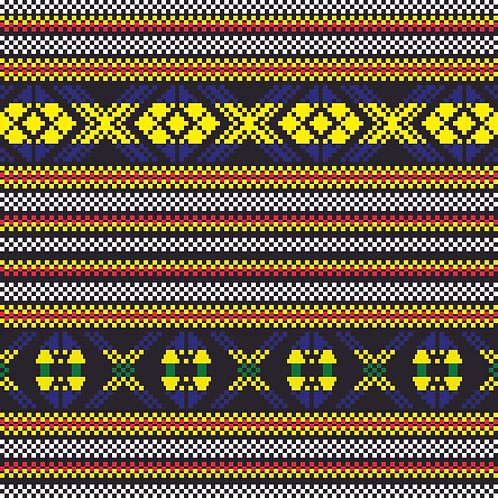 Hoa văn pixel MẠ 014