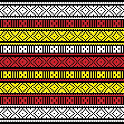 Hoa văn pixel MẠ 018