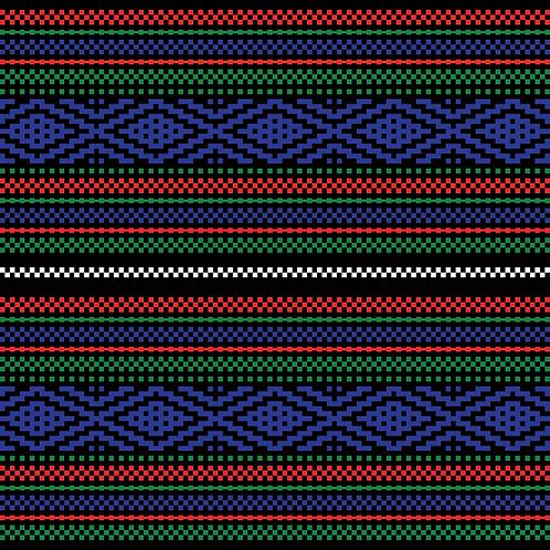 Hoa văn pixel MẠ 010