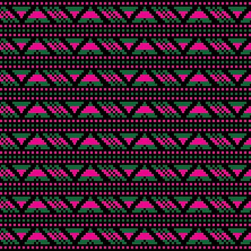 Hoa văn pixel MẠ 032