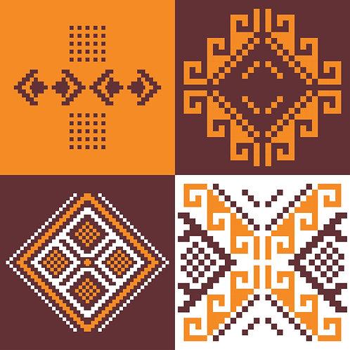 Hoa văn dân tộc phát triển pixel 003