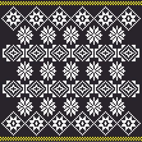 Hoa văn dân tộc pixel 005