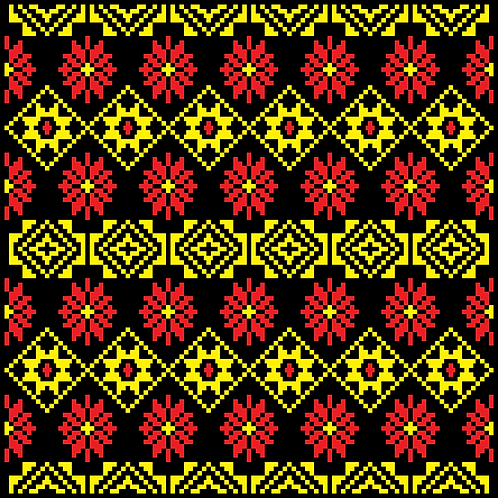Hoa văn pixel K'HO 005