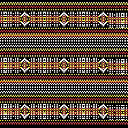 Hoa văn pixel K'HO 022