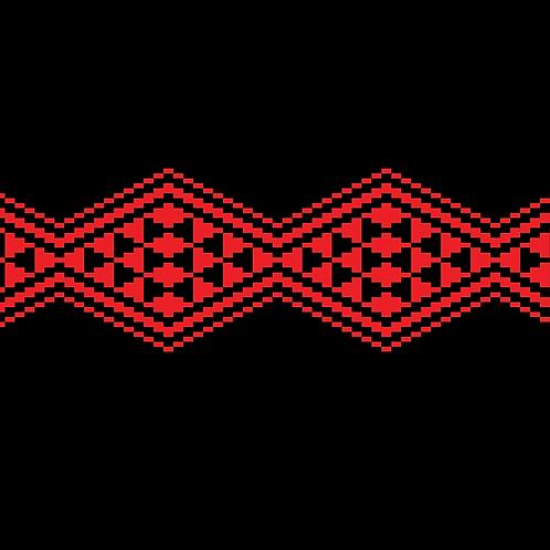 Hoa văn pixel MẠ 027