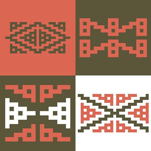 Hoa văn dân tộc phát triển pixel 001