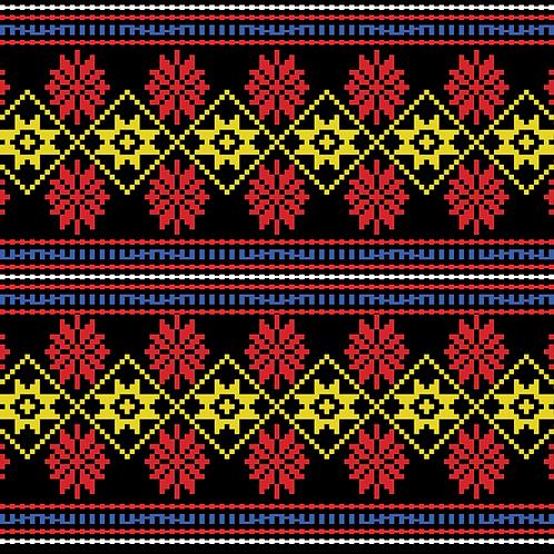 Hoa văn pixel K'HO 017