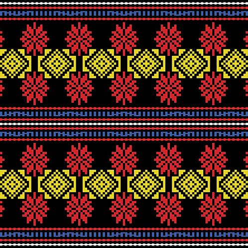 Hoa văn pixel K'HO 018