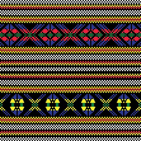 Hoa văn pixel MẠ 015