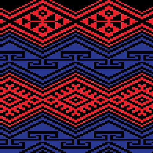 Hoa văn pixel MẠ 021