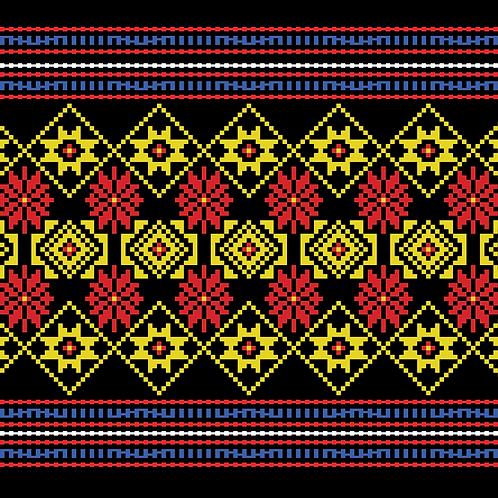 Hoa văn pixel K'HO 020