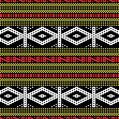 Hoa văn pixel MẠ 005