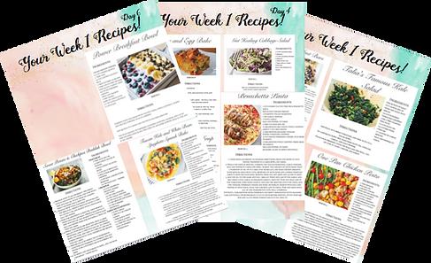 I week kickstarter meal plan