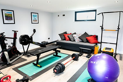 spacious clean gym, weights, gym equipment