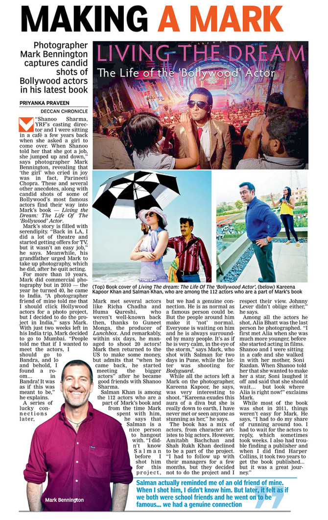 Interview with The Deccan Chronicle, Mark Bennington