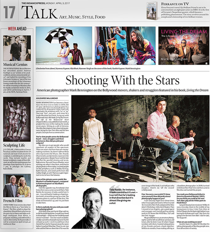 Interview with The Indian Express, Mark Bennington