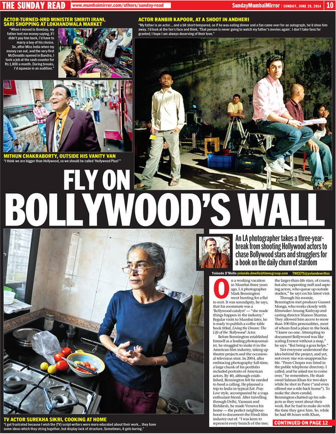 Mark Bennington, the fly on Bollywood's wall - MUMBAI MIRROR