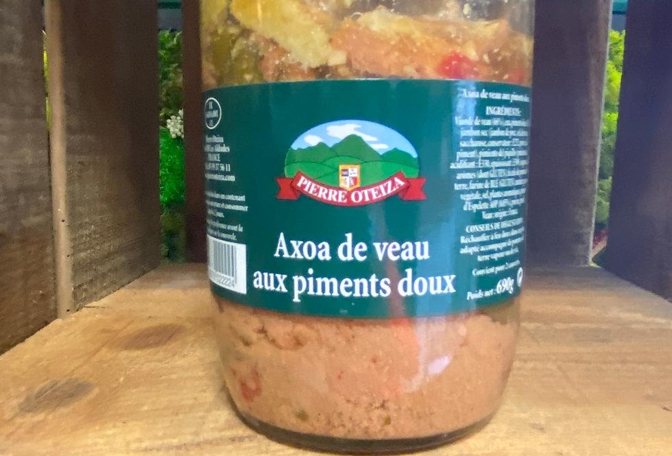 Axoa de veau aux piments doux 690g